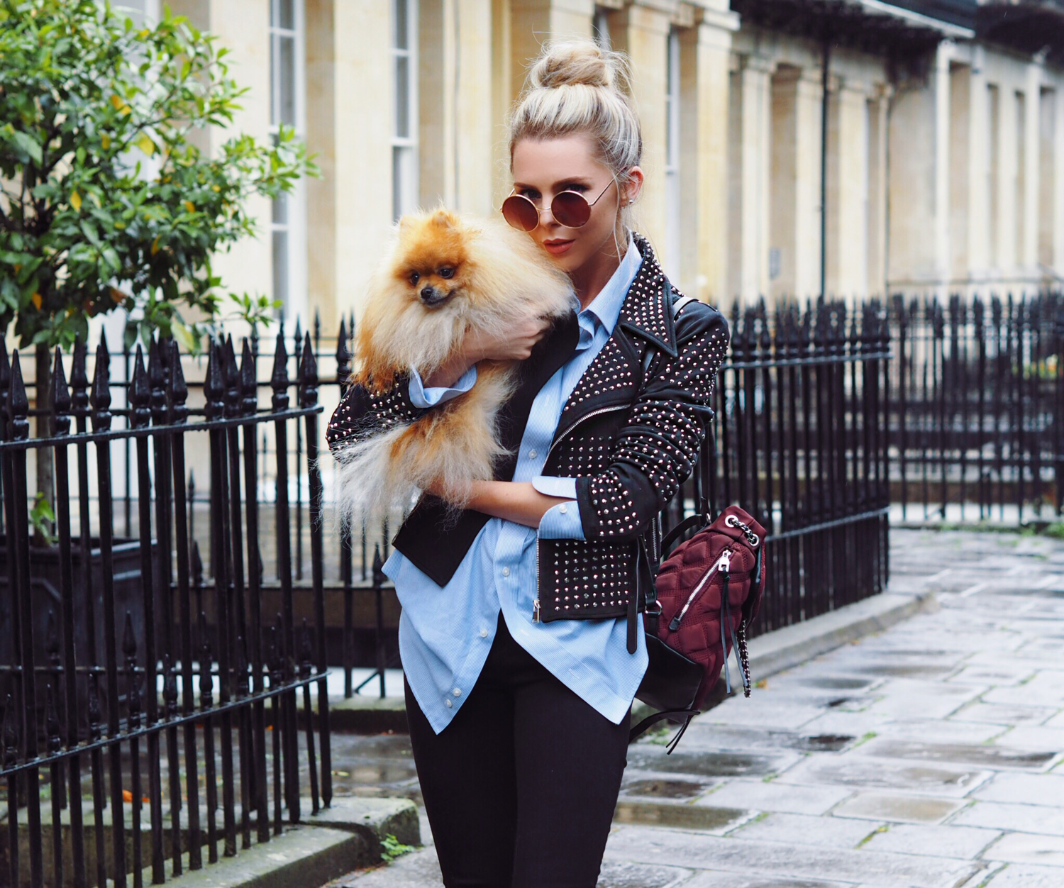 STUDDED JACKET, OOTD, STYLE BLOGGER, FASHION, STREET STYLE, LAURA BLAIR, LONDON FASHION GIRL