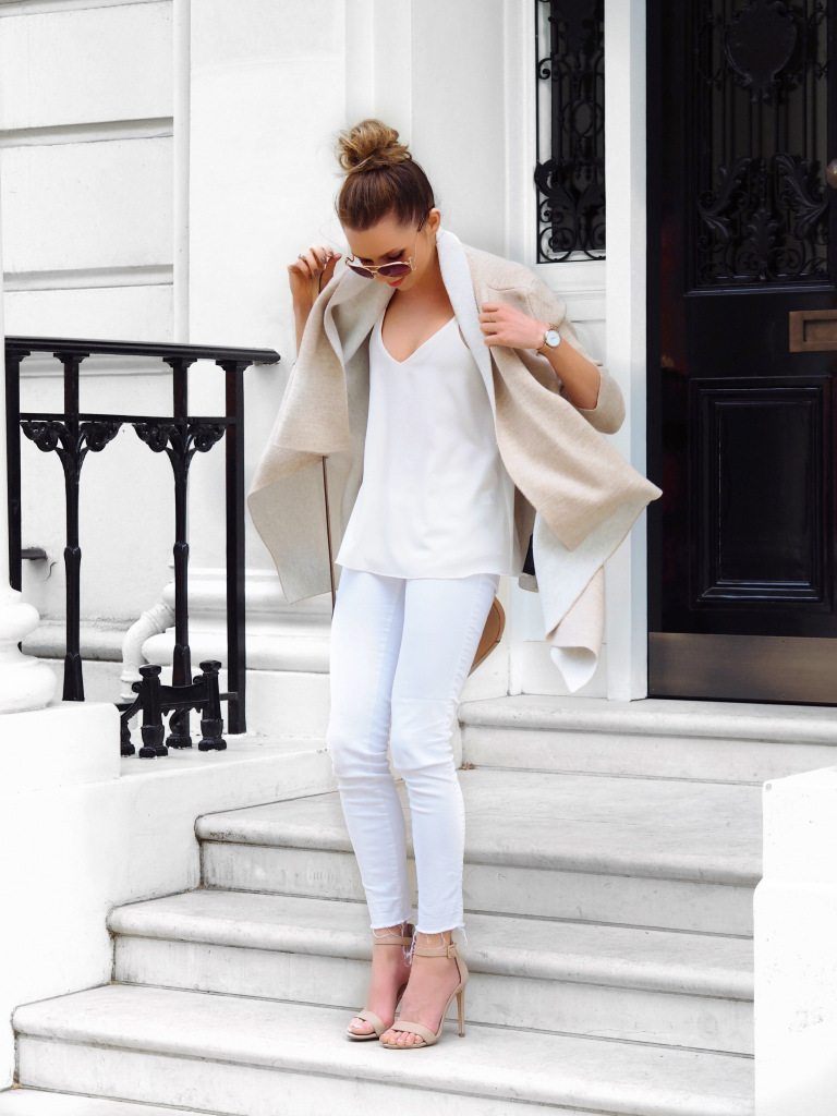 SUMMER STYLE WEARING WHITE OOTD LAURA BLAIR STREET STYLE LONDON FASHION GIRL
