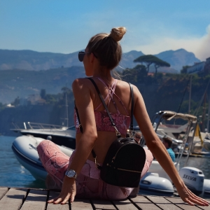 ITALIAN COAST, AMALFI COAST, POSITANO, SORRENTO, NUBYEN, GYM WEAR, ITALIAN WORKOUT, GYMWEAR HAUL