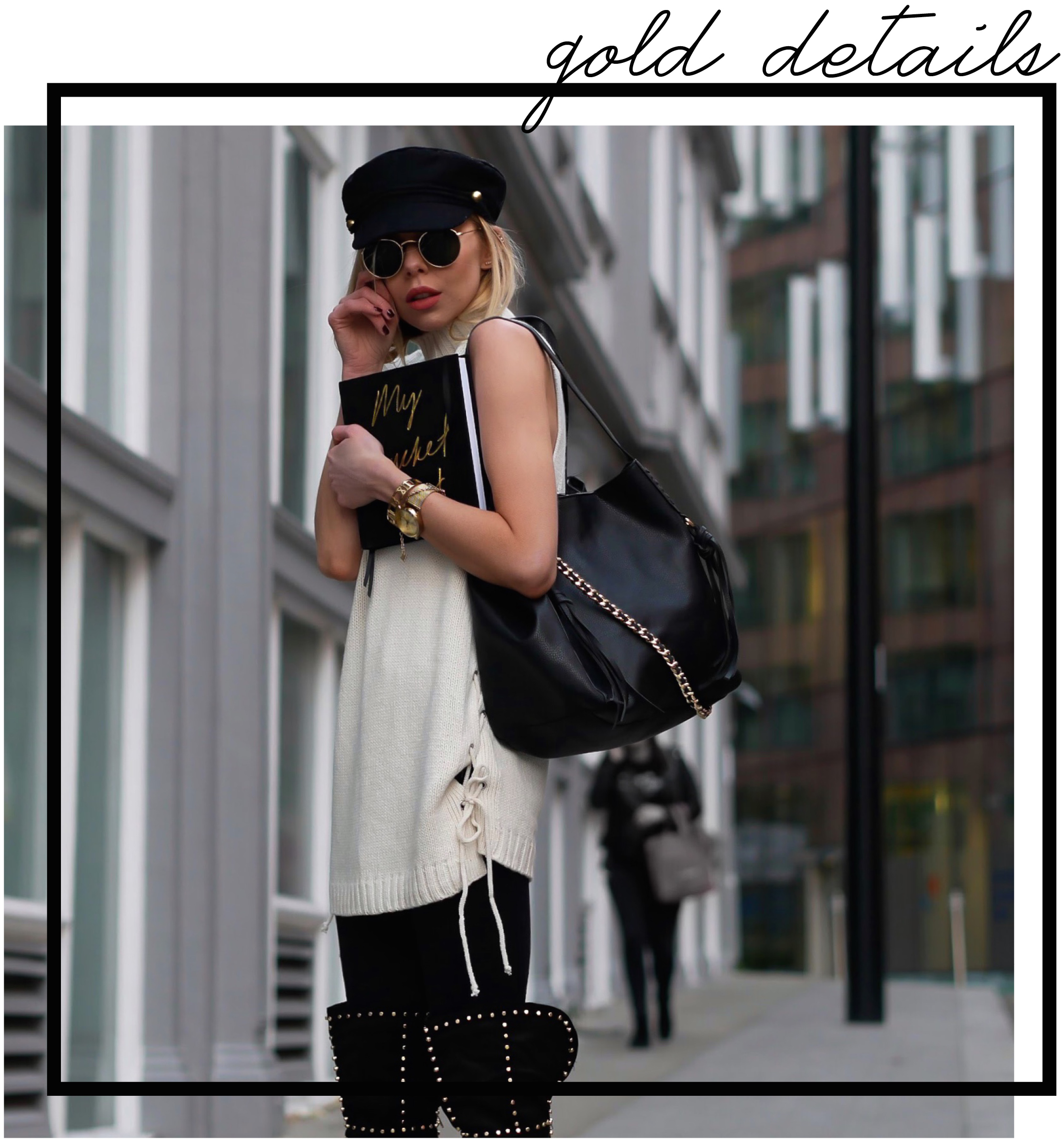 London Fashion Girl, Laura Blair, fashion, style, street style, outfit ideas, officewear, over the knee boots, winter fashion