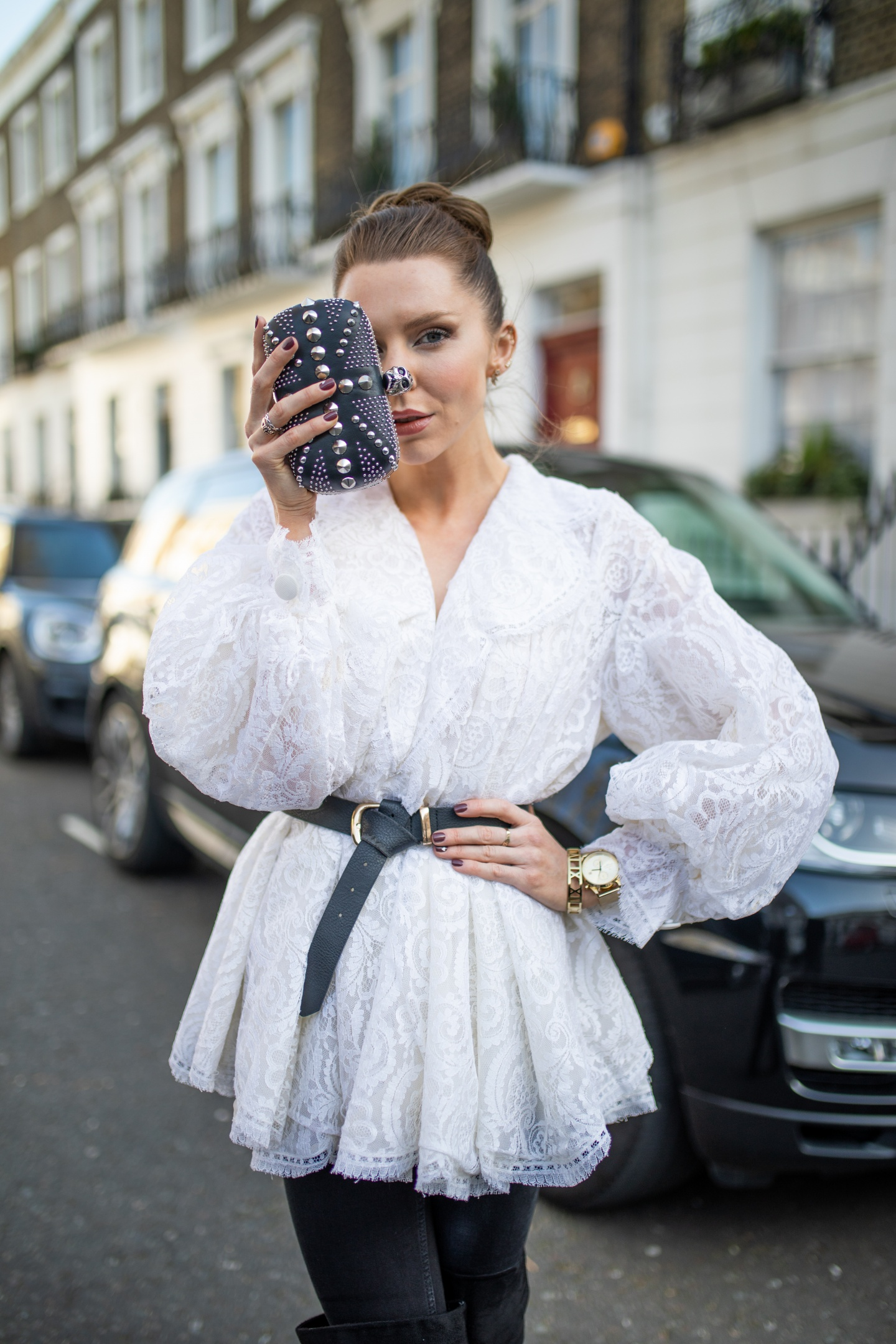 london fashion week, lfw, london fashion week street style, fashion, ss19, alexander mcqueen, christian dior, vintage dior, dior , vintage dior blouse, designer exchange