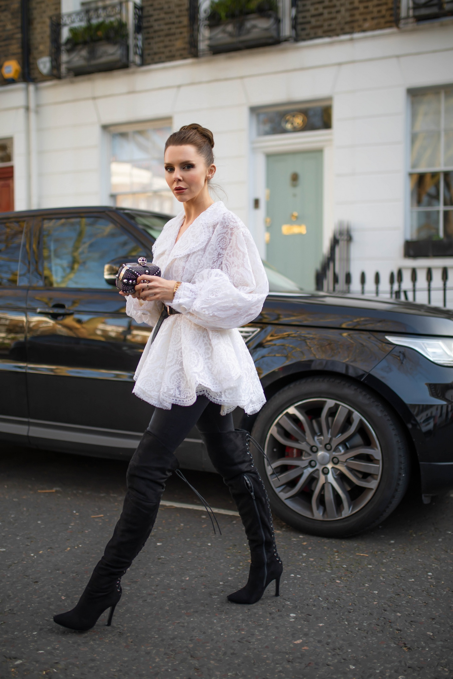 london fashion week, lfw, london fashion week street style, fashion, ss19, alexander mcqueen, christian dior, vintage dior, dior , vintage dior blouse, designer exchange