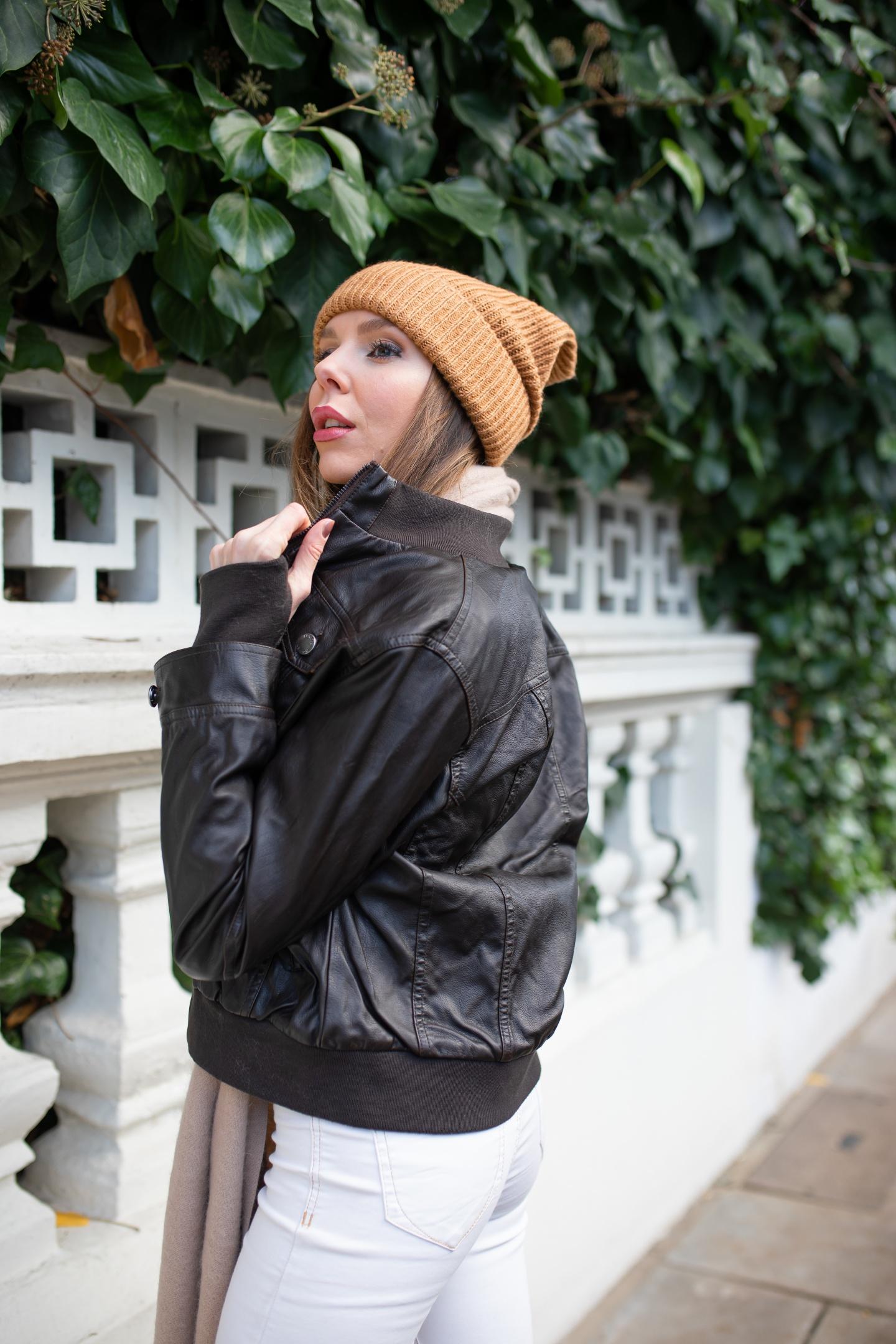 vegan leather jacket, faux leather jacket, sustainable fashion, hoffen, leather jacket, outerwear