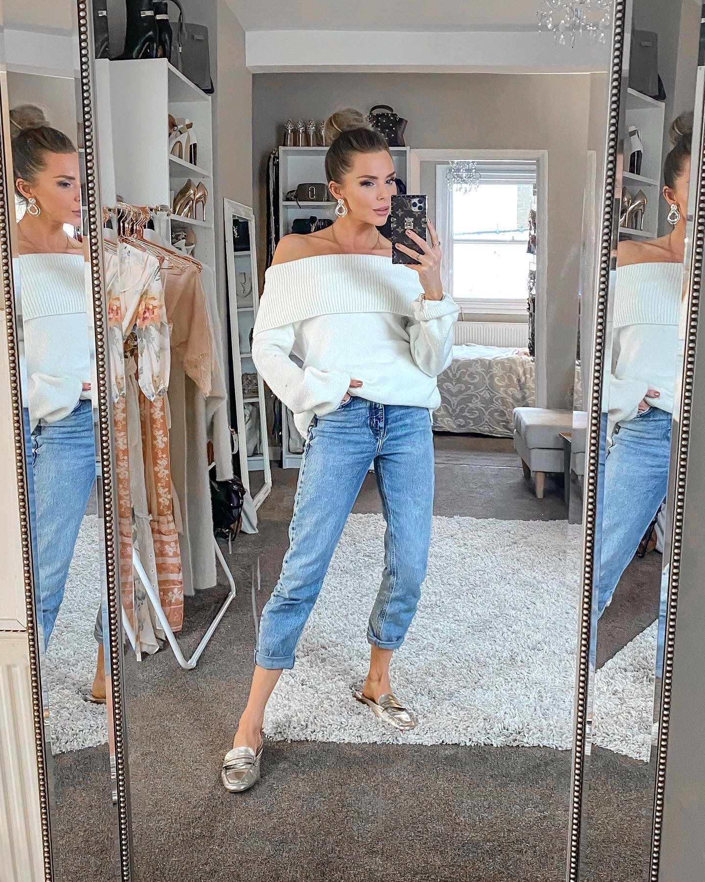 laura blair, debenhams, river island jeans, casual outfit