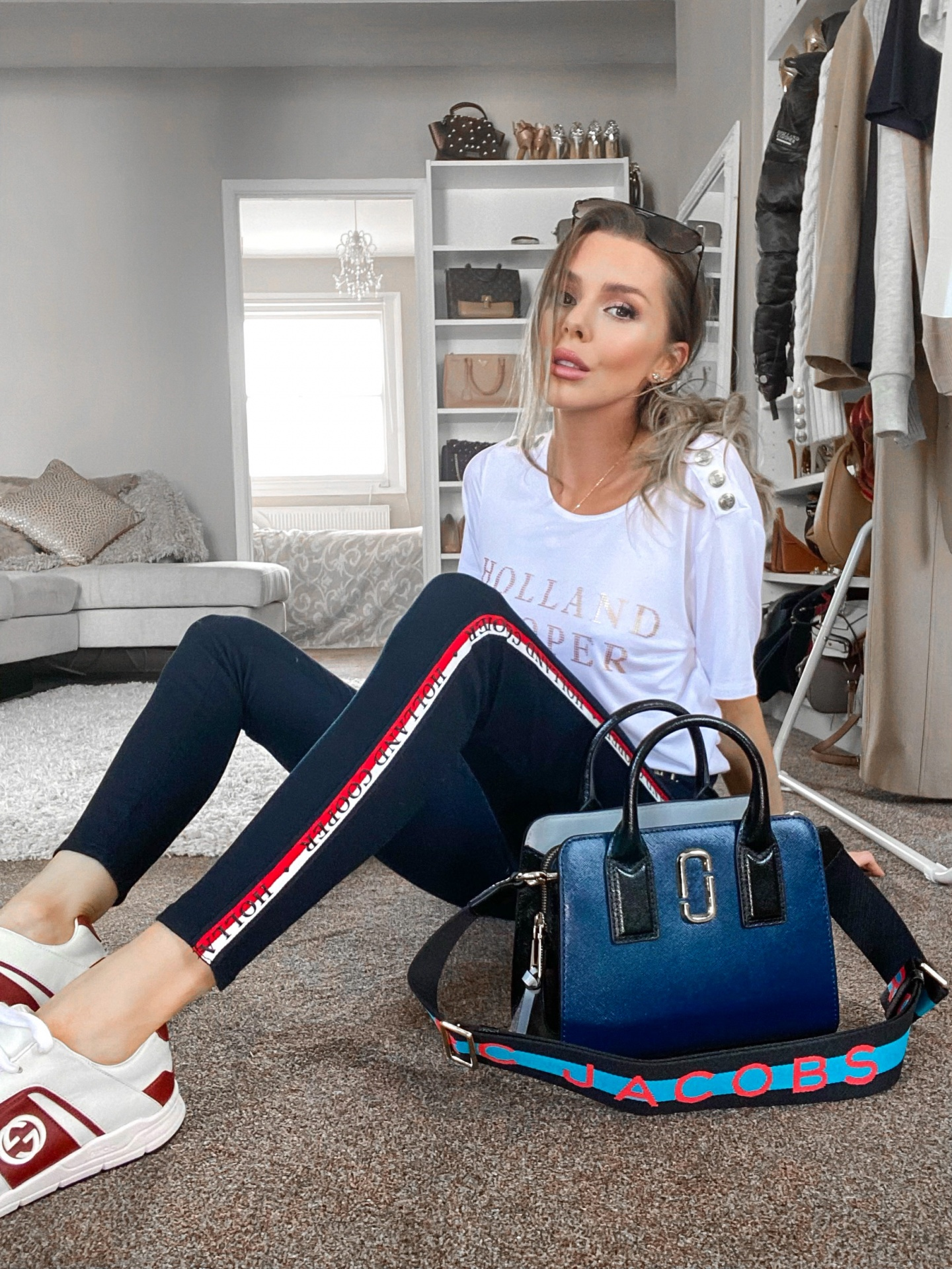 laura blair, fashion blogger uk, a week in outfits, shop instagram, holland cooper, marc jacobs, marc jacobs bag, my bag online