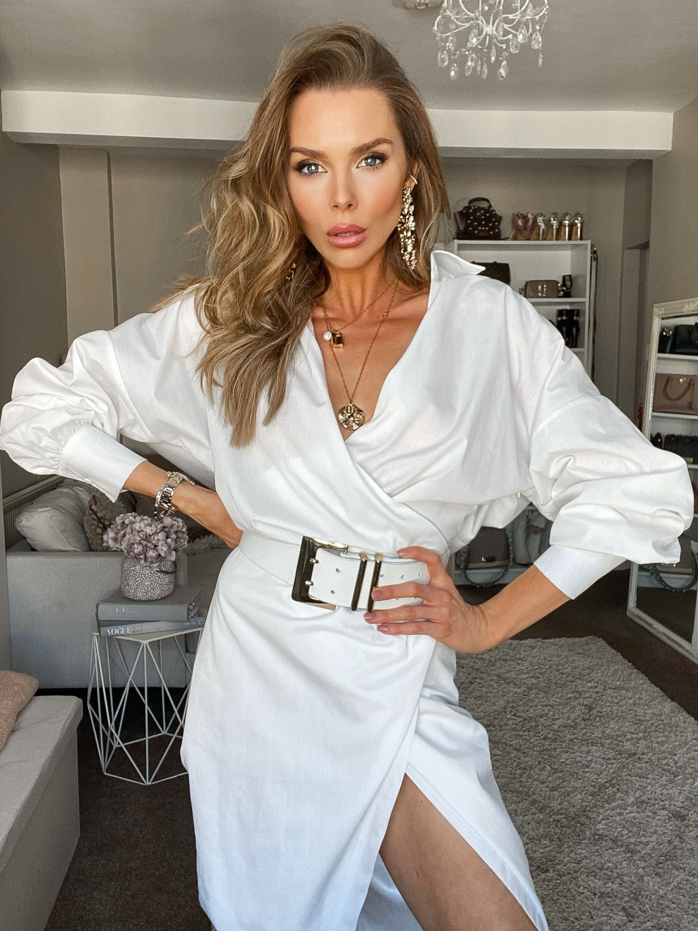laura blair, fashion blogger uk, white shirt dress, office wear